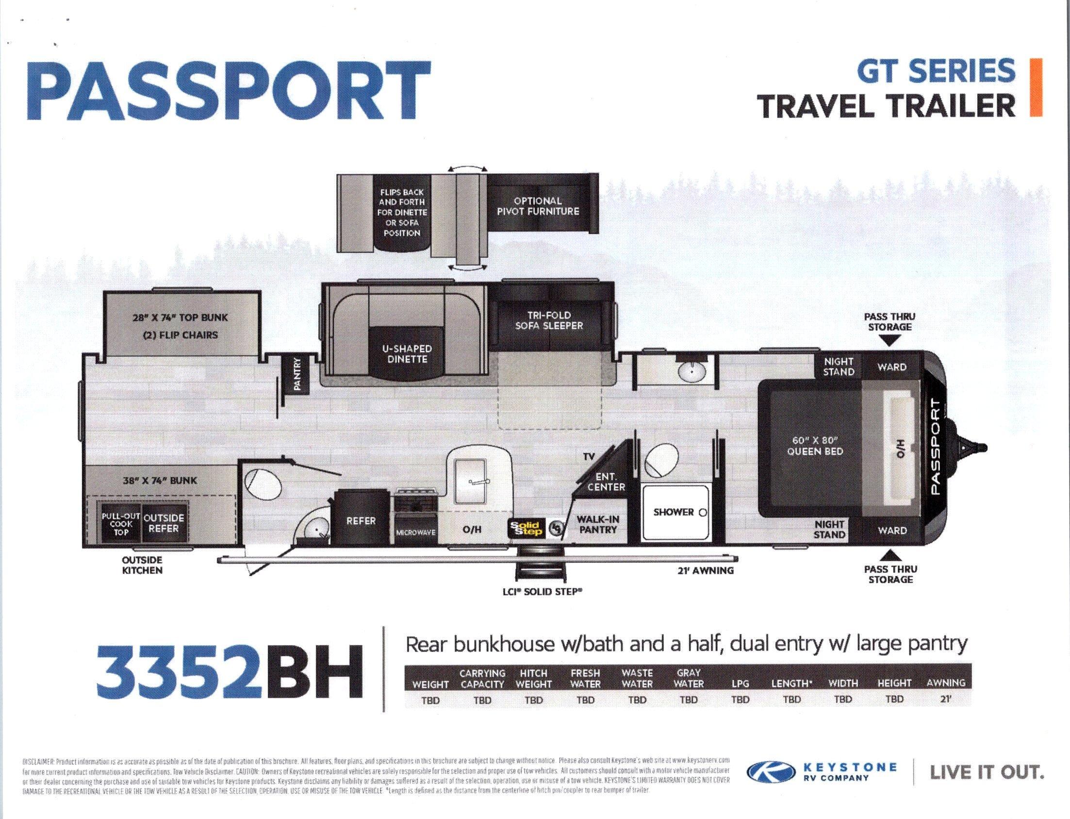 2021 Passport 3352BH GT Series