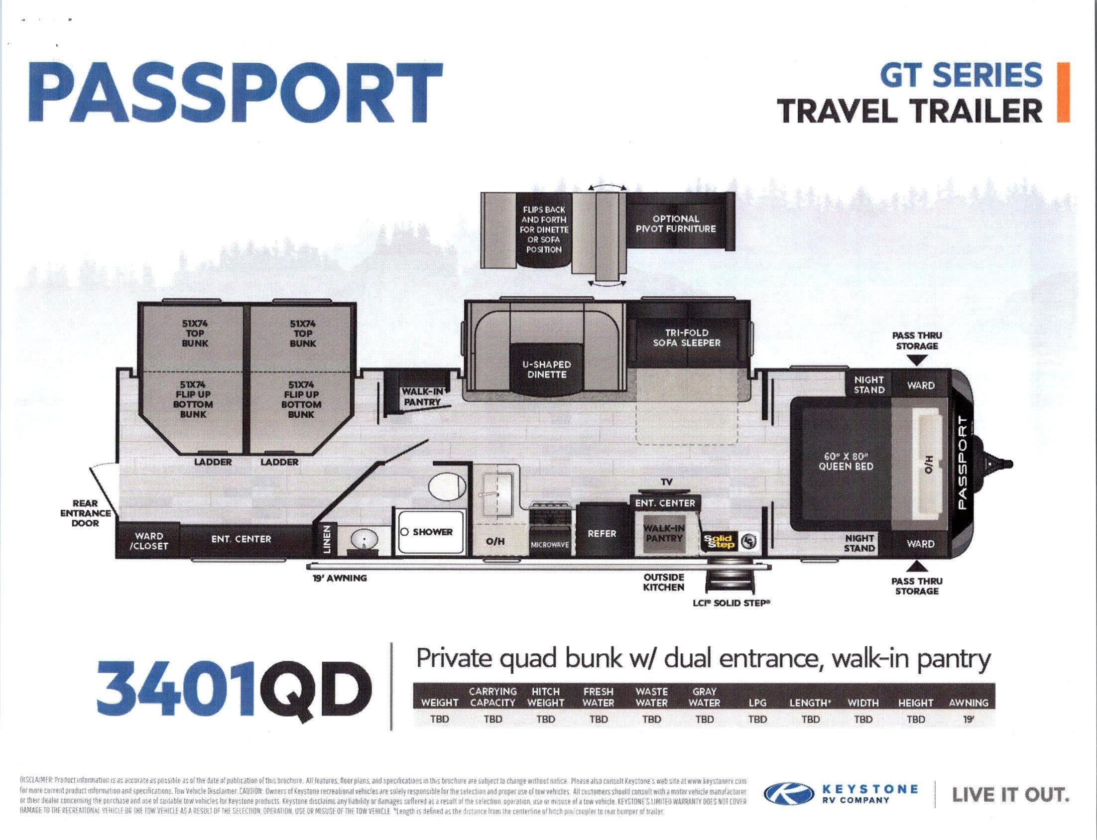 2021 Passport 3401DQ GT Series