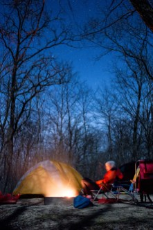 Quite spring nights. The best camping weather.