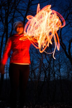 Some experimentation with light painting.
