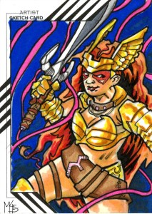 Angela Upper Deck Sketch Card