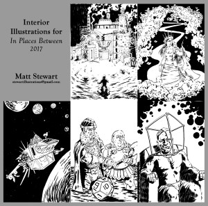 Interior illustrations for In Places Between 2017 by matt stewart