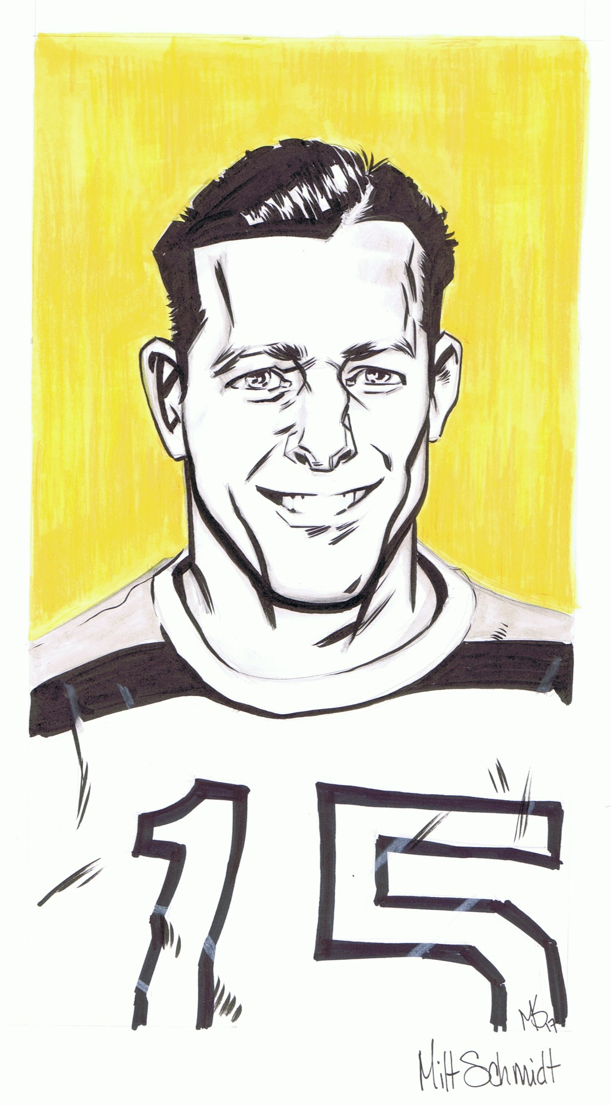 Milt Schmidt Drawing