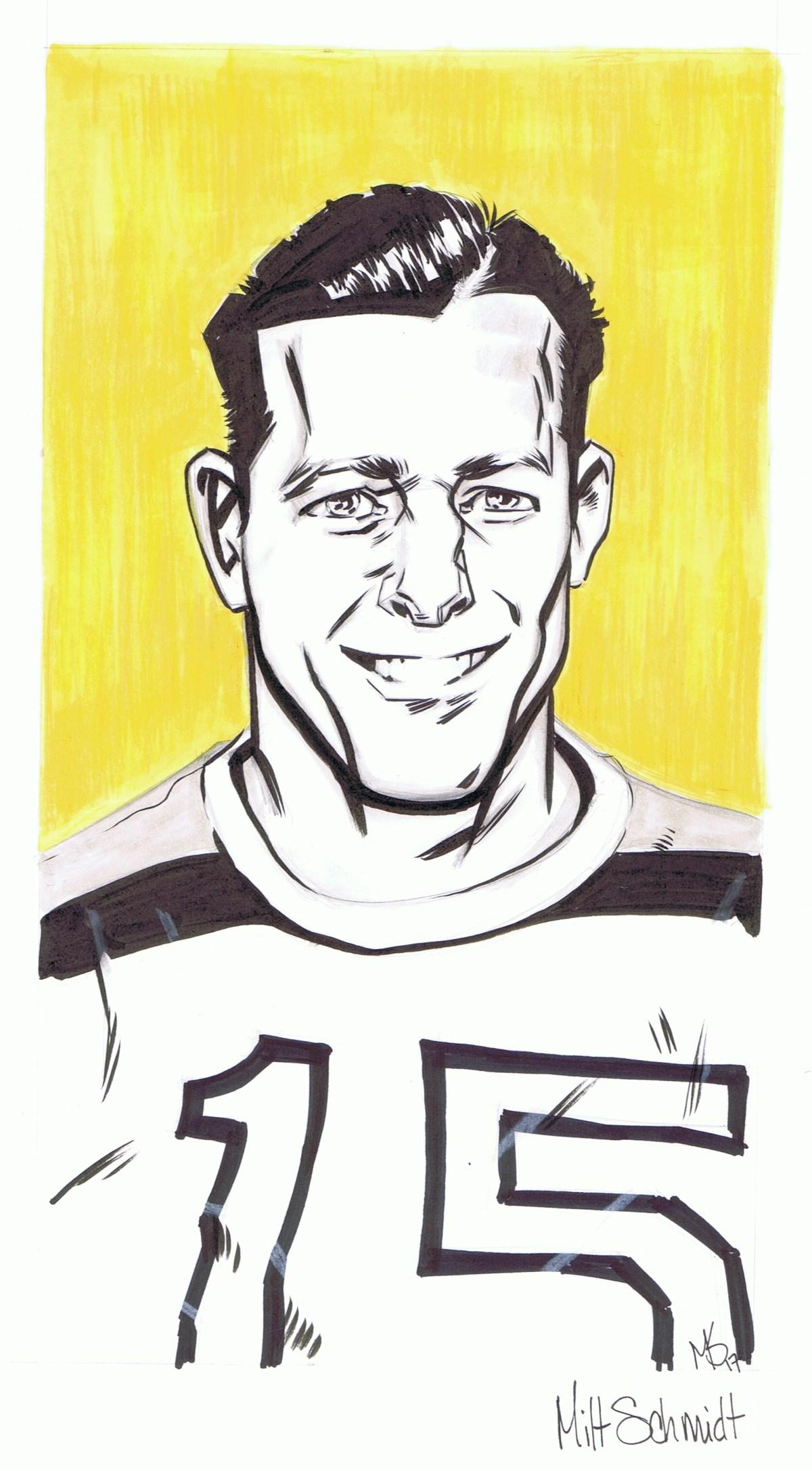 Milt Schmidt Drawing