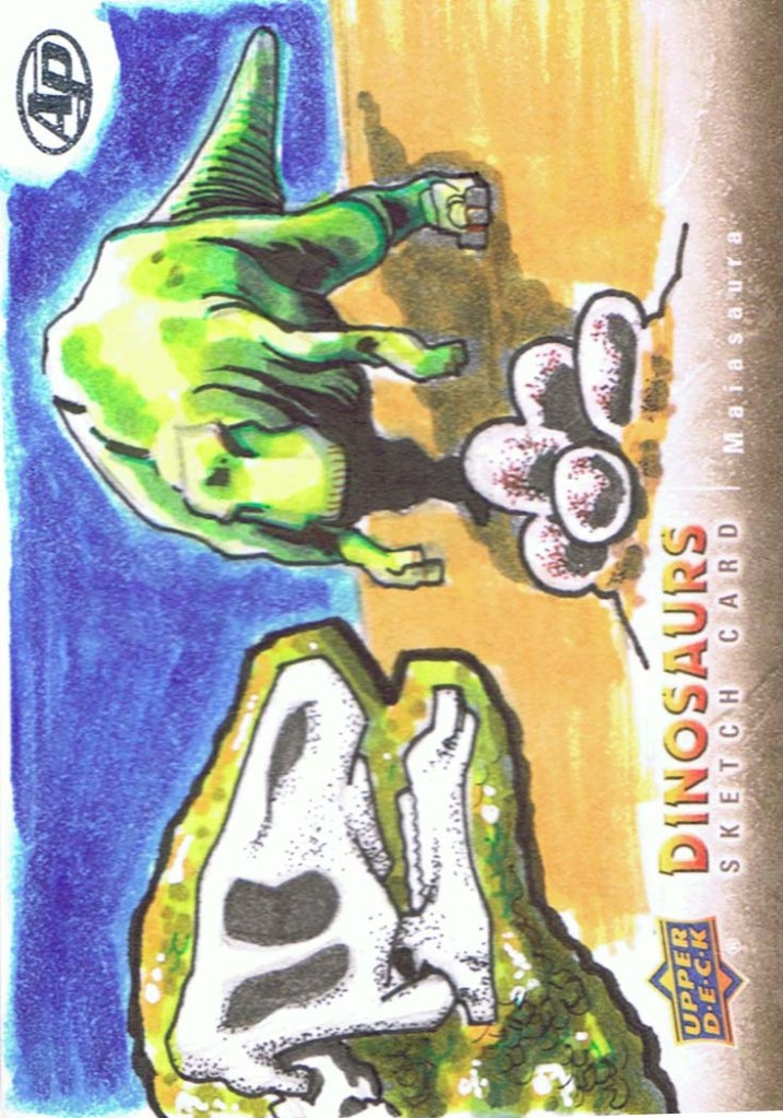 Upper Deck 2015 Dinosaurs artist return sketch card Maiasaura