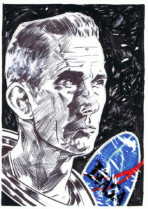 sketch of nasa astronaut Eugene Cernan