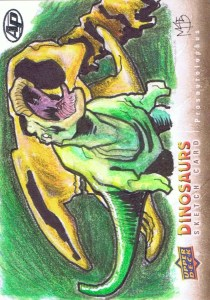 Upper Deck 2015 Dinosaurs artist return sketch card prosaurolophus
