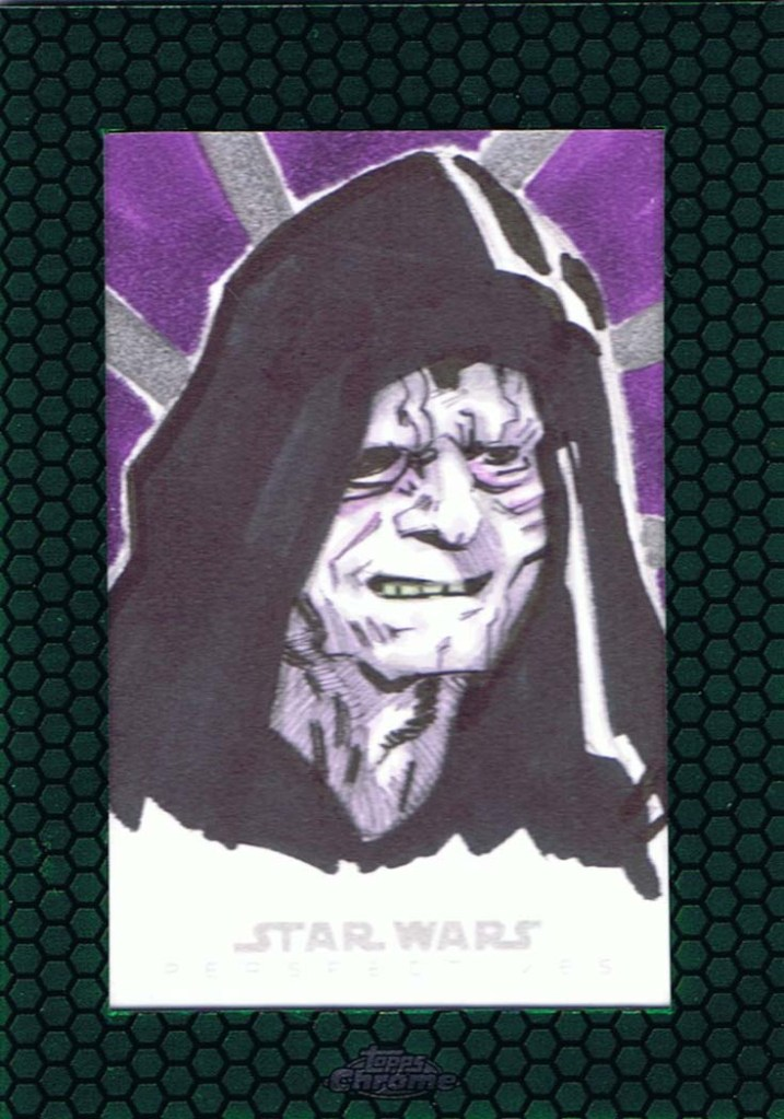 Darth Sidious Topps Star Wars Chrome Perspectives 2 artist return sketch card