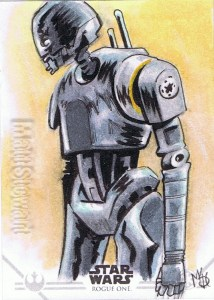 Star Wars Rogue One Series Two sketch card K-2SO
