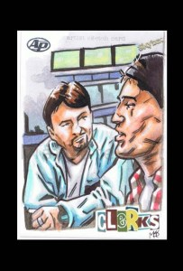 Dante and Randal artist proof sketch card from clerks