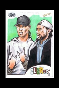 jay and silent bob artist proof sketch card from clerks