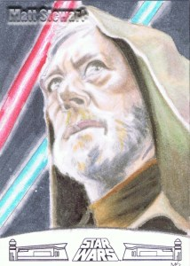 Obi Wan artist return sketch card