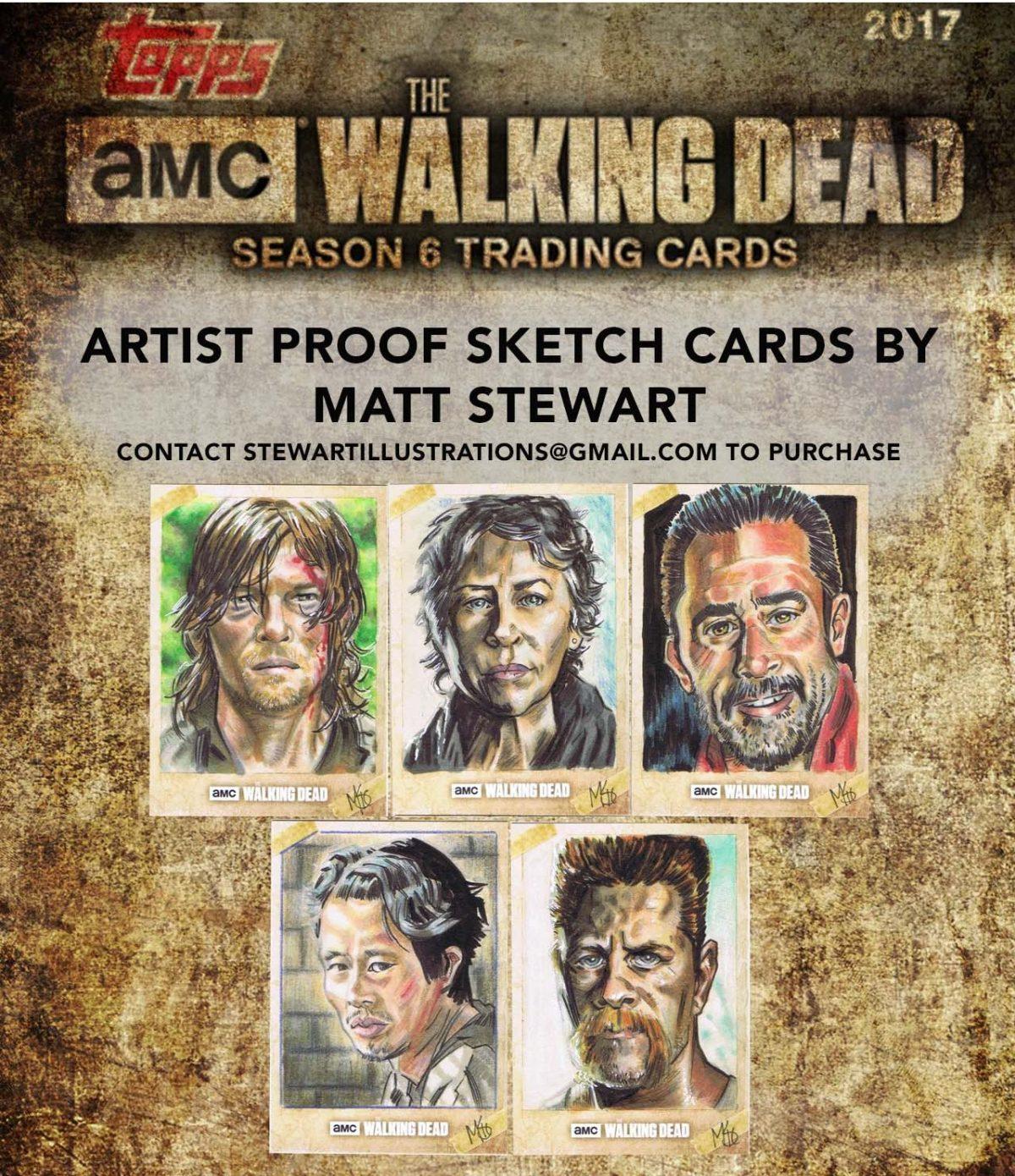 topps walking dead season 6 artist proofs