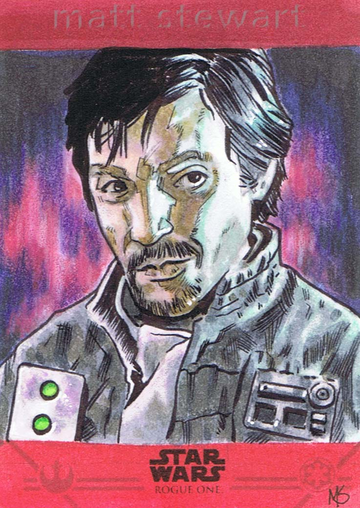 Rogue One sketch card of Cassian