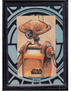 sketch card of a pit droid