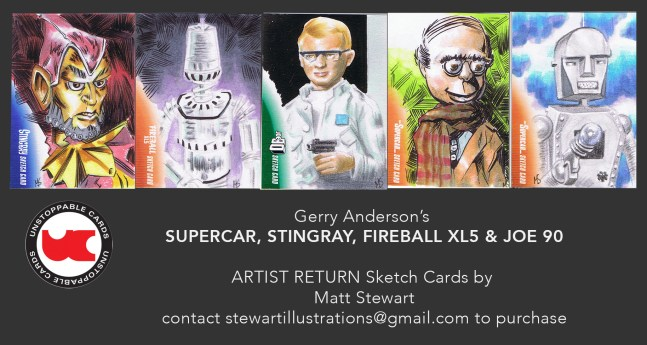 Gerry Anderson Unstoppable artist return sketch cards