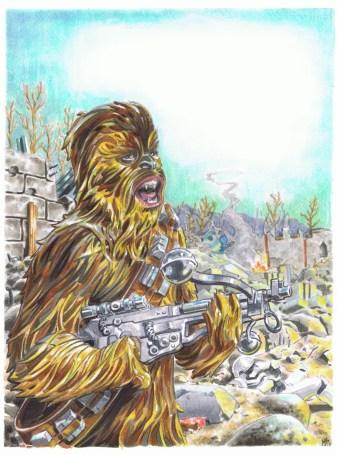 chewbacca commission drawn by matt stewart