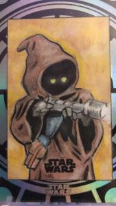 jawa 40th anniversary buyback sketch card drawn by matt stewart