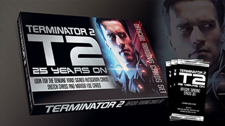 terminator 2 promotional image from unstoppable cards