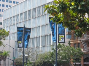 banners on the streets of san diego for san diego comic con 2010