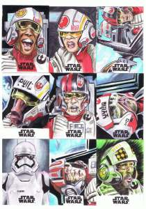 topps star wars journey to the last jedi sketch cards by matt stewart page 5