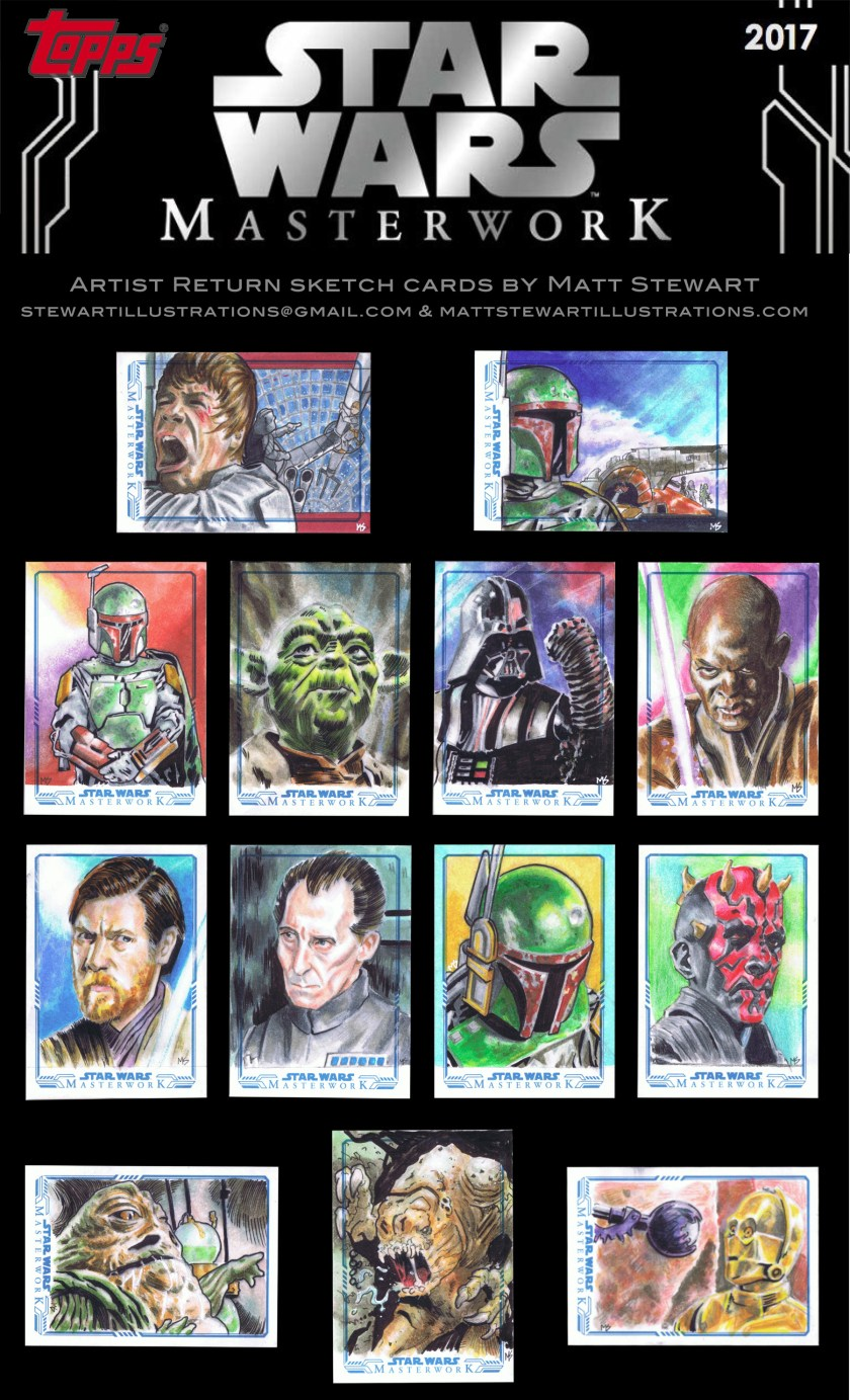 artist returns by matt stewart from topps star wars masterwork 2017