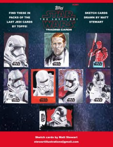 topps 2017 star wars the last jedi sketch cards by matt stewart