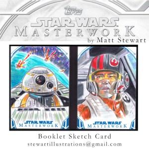Star Wars Masterwork sketch card booklet by matt stewart