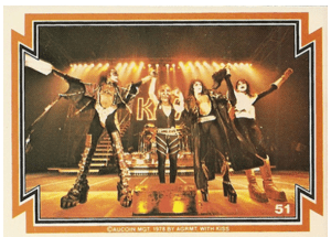 KISS trading card from the 1978 Donruss set.