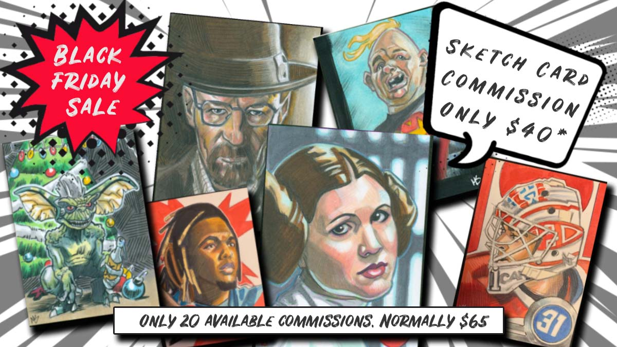 Black Friday Sale on Sketch Card Commissions