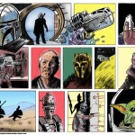 comic strip of the Mandalorian, first episode drawn as fan art by matt stewart