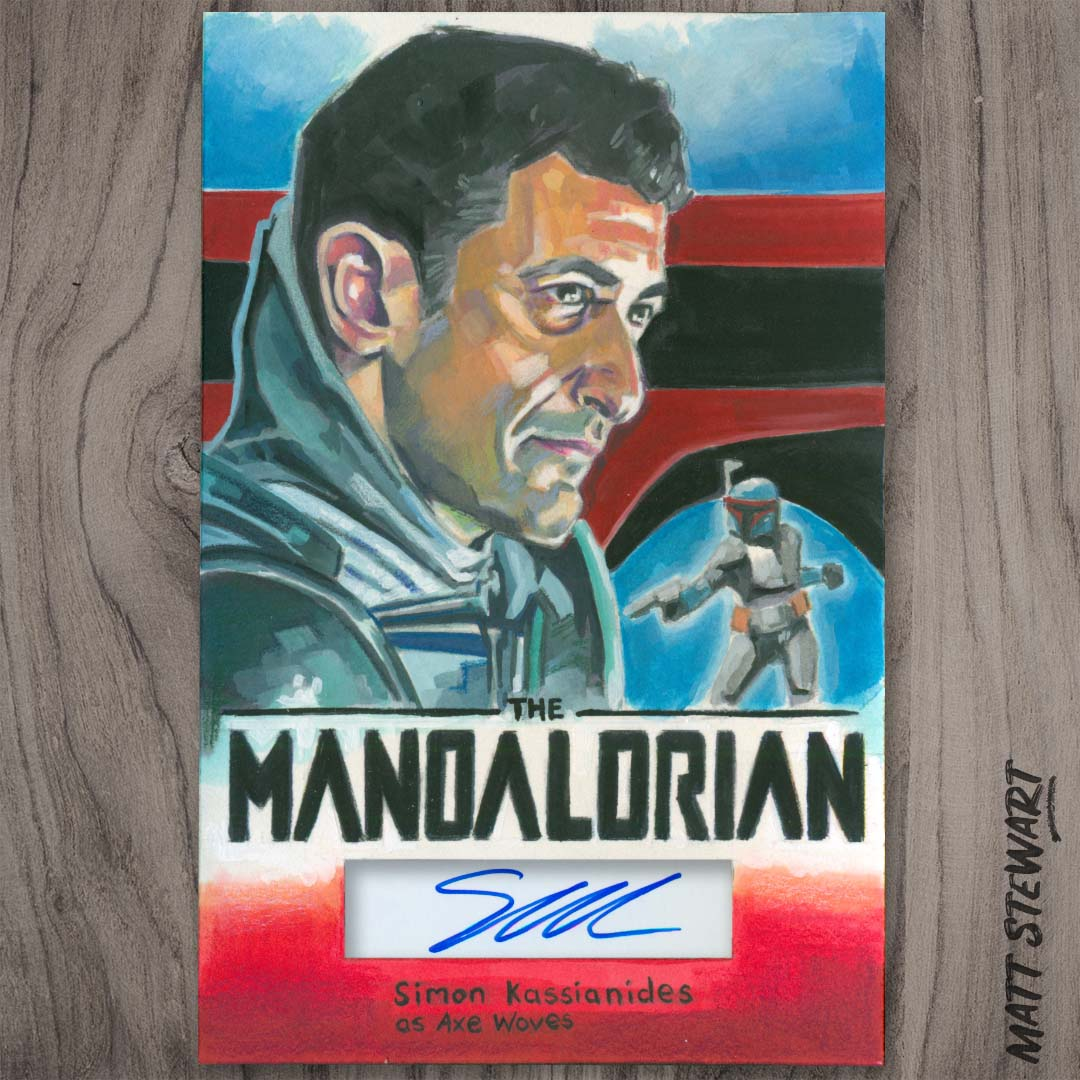 Mandalorian Painting with Autograph