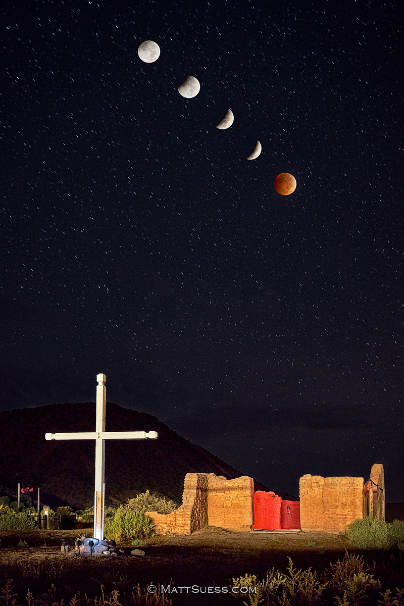 """Blood Moon over Abiquiu"""