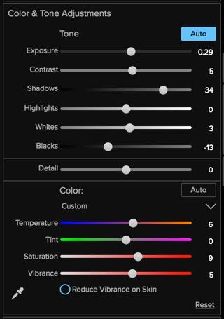Advanced slider controls in Enhance.