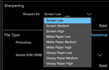 The new Resize only provides presets with no manual control and no way to preview the sharpening.
