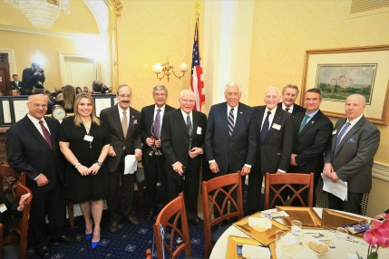 Richard Rabinowitz, Honoree Courtney Anixter, Rep. Eliot Engel (D-NY), Honoree Kenneth Goldman, Honoree Jack A. Belz, Rep. Steny H. Hoyer (D-MD), Honoree Daniel Rose, Honoree Peter Friedmann, Rep. Don Bacon (R-NE), Dr. Matt Sweetwood