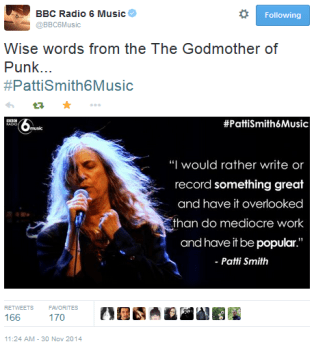 For #PattiSmith6Music on Now Playing @6Music