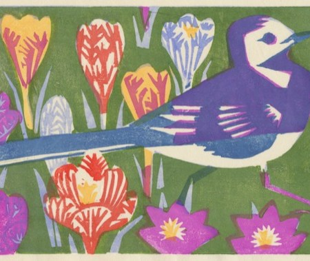 """Amelia's Garden"" woodblock print by Matt Underwood"