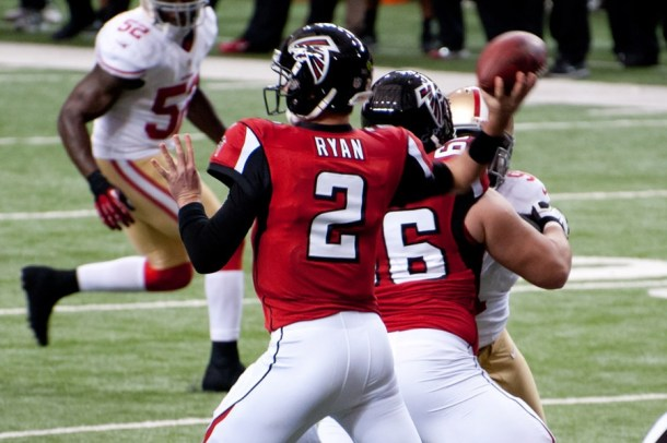 Russ Lande gets Matt Ryan in the middle of the first round - a reader favorite. Photo by Football Schedule.