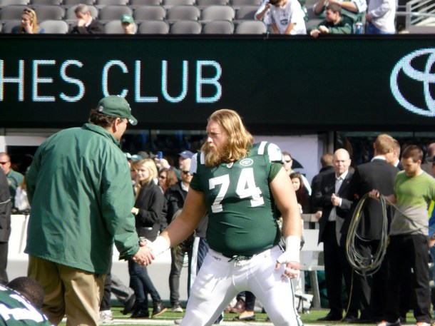 Nick Mangold by Marianne O'Leary.