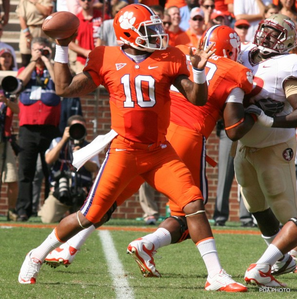 Brent Musberger said he talked to scouts who compared Tajh Boyd to Russell Wilson. Let's have a look from the pocket. Photo by PDA.Photo.