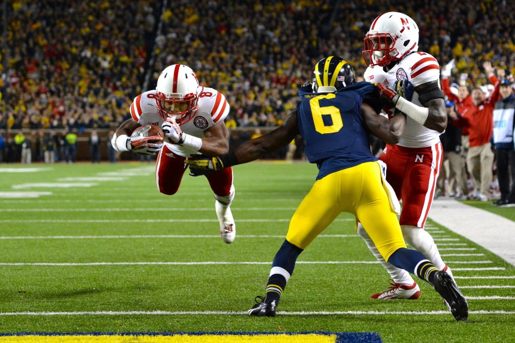 Nebraska runner Ameer Abdullah's 43-yard touchdown vs. Illinois offers a sound example of the difficulties of judging speed without a stopwatch, but why it's still as important as the 40-time. Photo by MGoBlog.