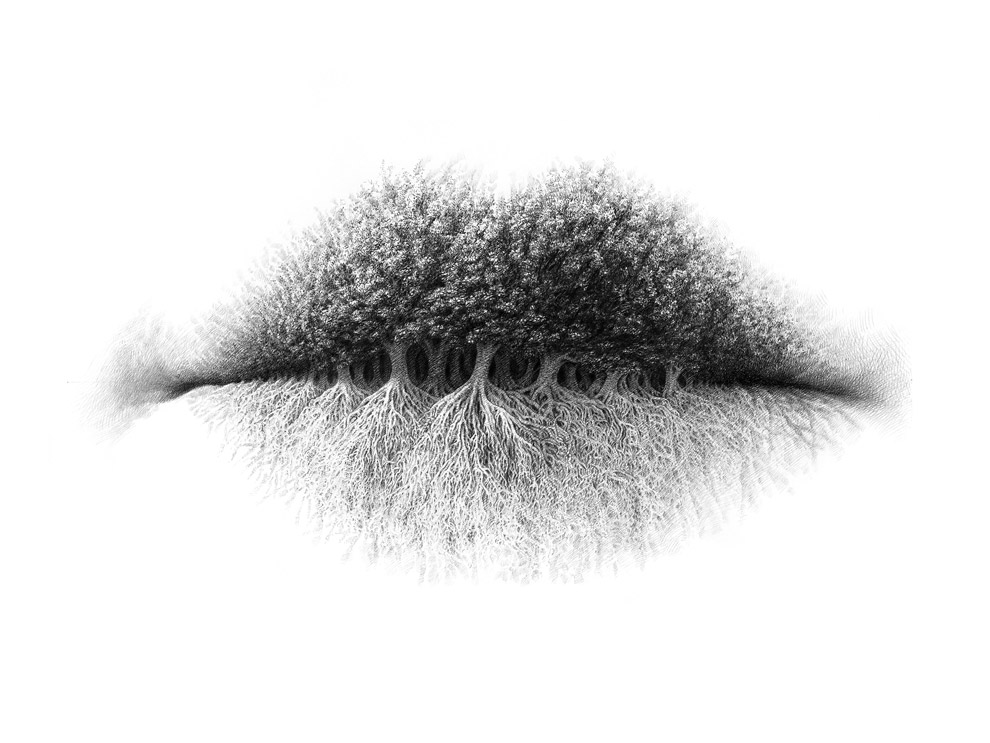 Pencil Drawing by Christo Dagorov. More of his work found at http://www.thisiscolossal.com/2014/11/surreal-pencil-drawings-of-lips-by-christo-dagorov/