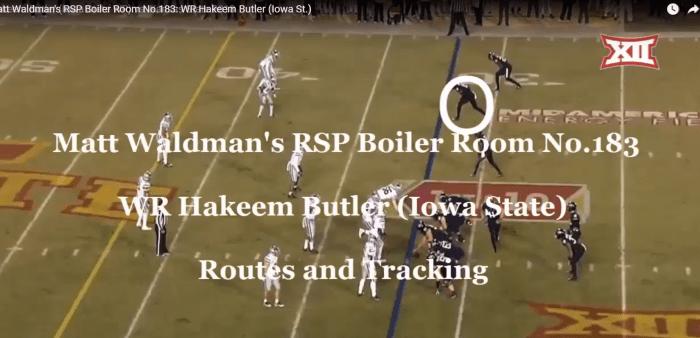 Matt Waldman's RSP Boiler Room No.183 WR Hakeem Butler (Iowa St.)