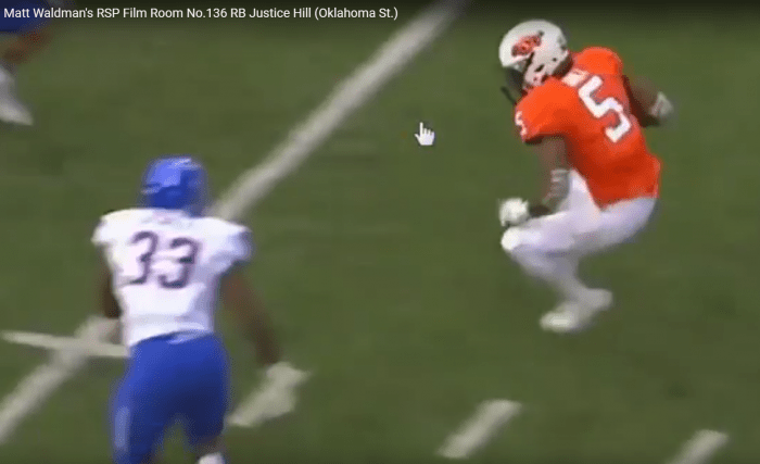 Matt Waldman's RSP Film Room No.136: RB Justice Hill (Oklahoma St.)