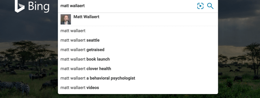 Bing search suggestions for Matt Wallaert