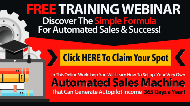 free training webinar invite to claim your spot for discovering the simple formula for automated sales and success