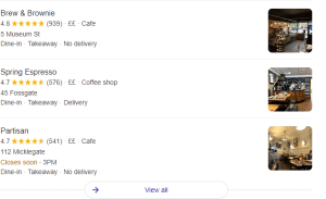 Image to show google 3 pack for local SEO