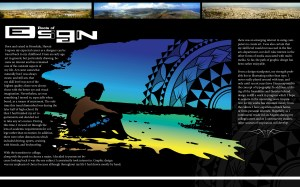 2 Page Magazine Spread