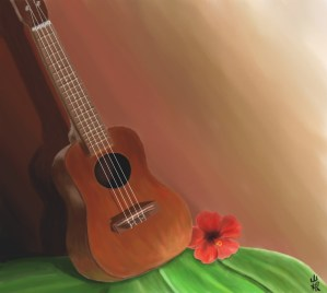 Ukulele and Hibiscus